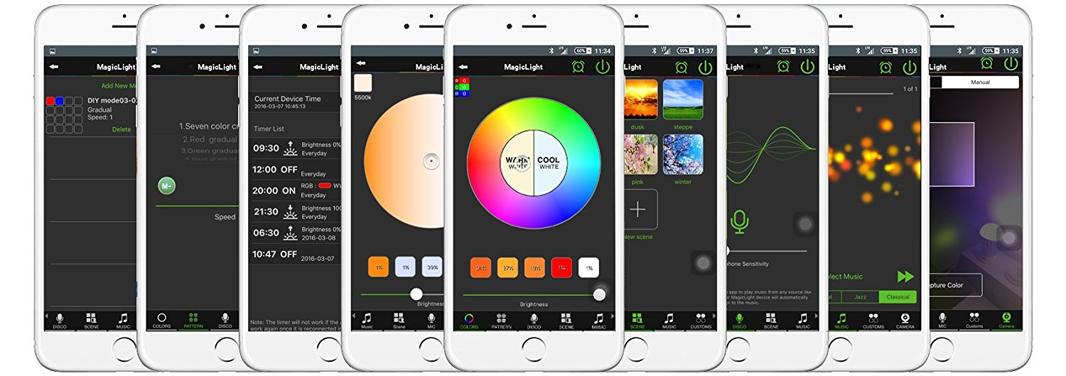 smartphone controlled lighting. MagicLight Pro App Controls Smartphone Controlled Lighting M