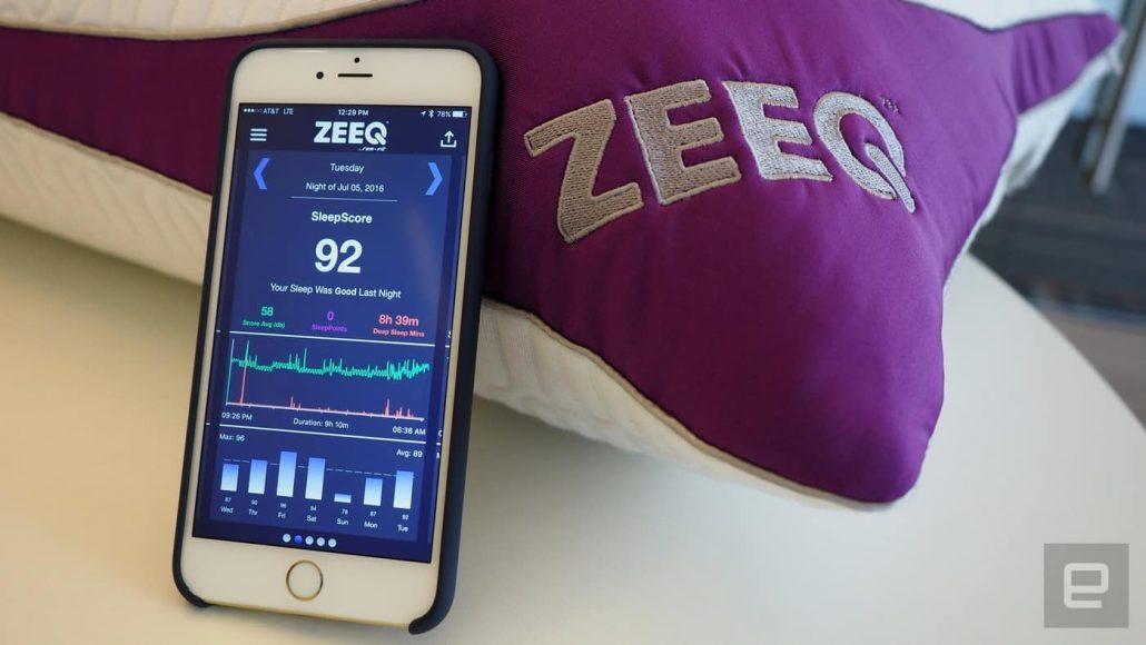 Zeeq smart pillow app