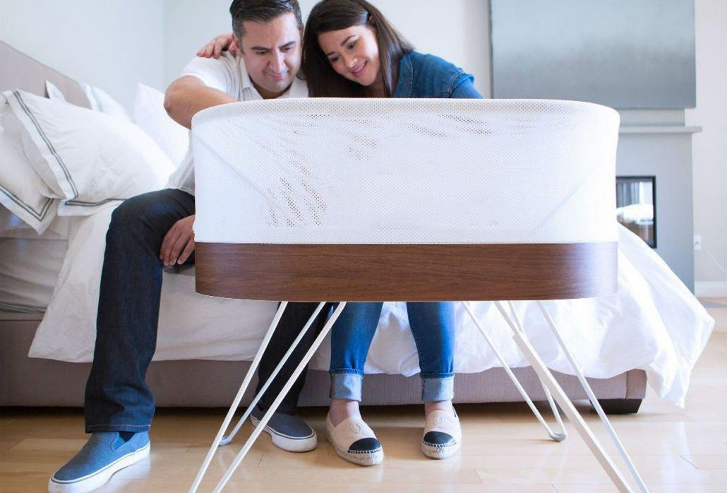 Couple with Snoo Smart Sleeper