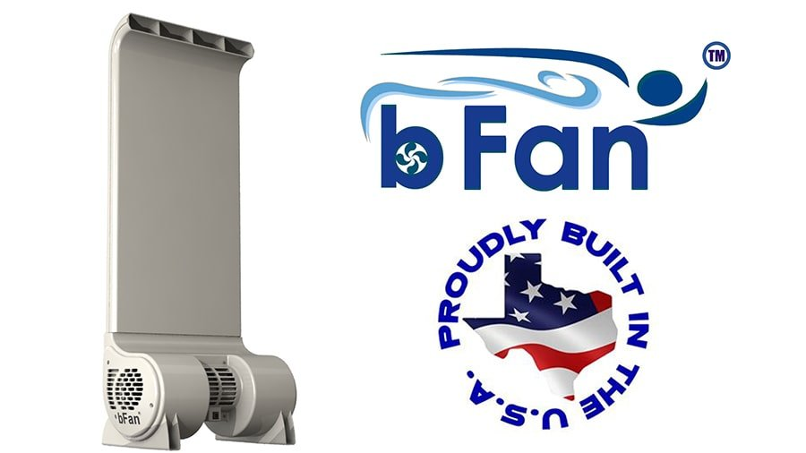 bfan bed fan colling system made in America