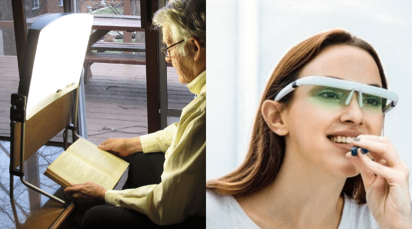Light therapy - light box vs smart glasses
