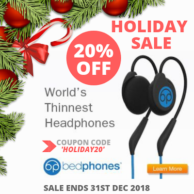 BEDPHONES holiday sale