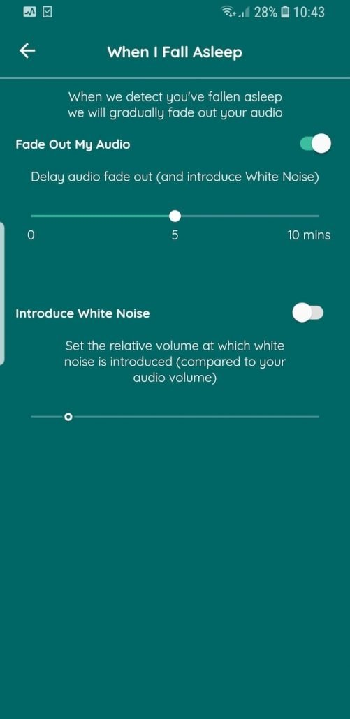 Kokoon's Active White Noise feature