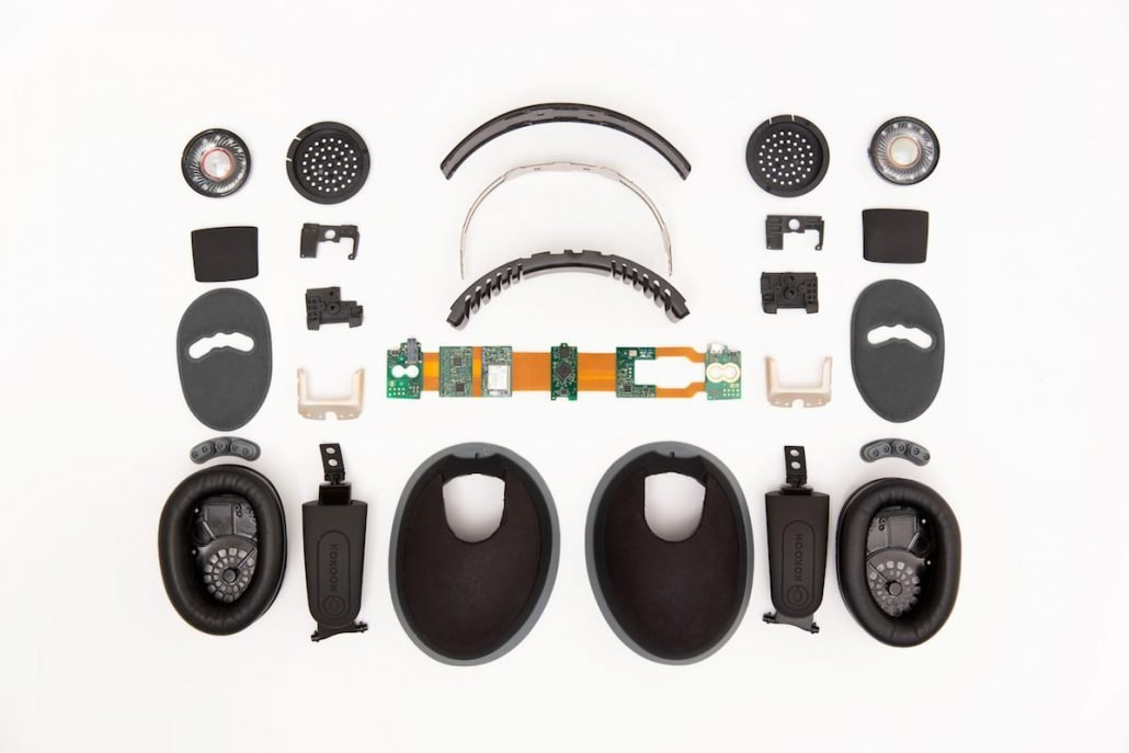 Kokoon EEG Headphones components