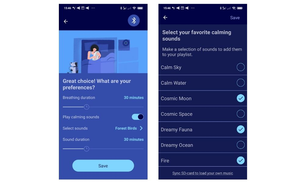 Somnox sleep robot app preferences