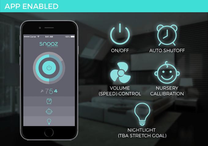 Snooz app controls_