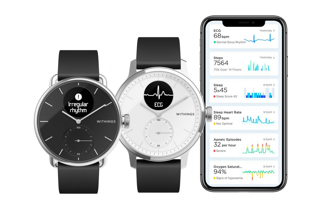 Withings Scanwatch ECG Sleep apnea-min