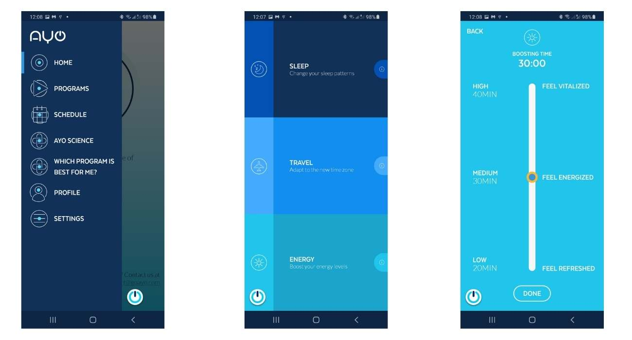 Ayo Light Therapy App